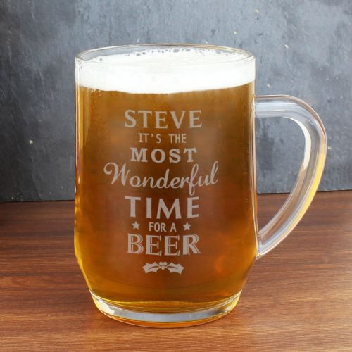Personalised Wonderful Time For A Beer Glass Tankard
